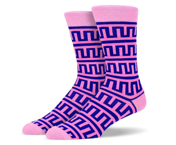 Pink Purple Aztec Socks
