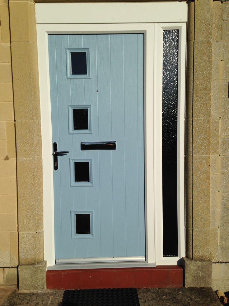 Xtremedoor Duck Egg Blue Composite Door Cottage 4 Style