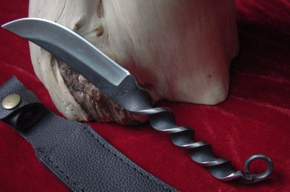 Forged Handmade Quality Hunting knife w/Spiral Full Tang by L7777, $37.90