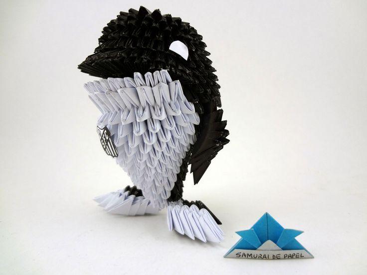 Origami 3D Baleia do Santos FC