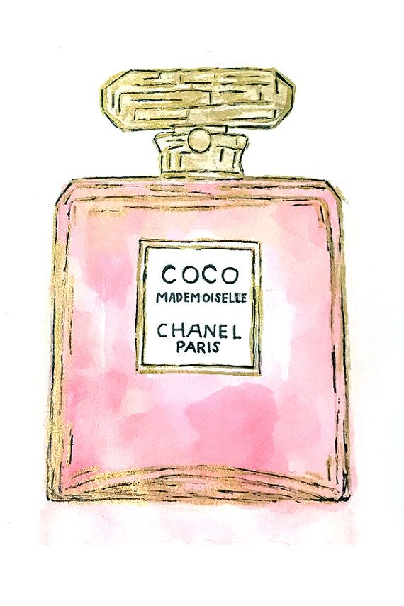 Chanel Designer Perfume Fashion by CarolineMarieDesign on Etsy