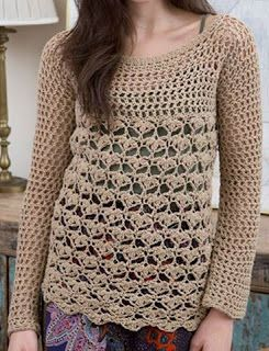 Tina's handicraft : long sleeve crochet shirt