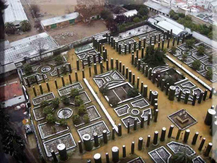 Jardines del Alcázar nevados
