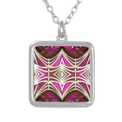 Psychedelic Festival Rave Silver Plated Necklace - jewelry jewellery unique special diy gift present