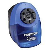ad: Bostitch QuietSharp  6 Classroom Electric Pencil Sharpener, 6-Holes, Blue (EPS10HC)  Built with the classroom demands in mind, this sharpener will help students sharpen their pencils quickly, quietly, and safely. The XHC cutter technology allows for 70% faster sharpening and 10x longer life. With the combination of a QuietSharp super duty motor and thermal overload protection, operation is quiet with the durability to withstand strenuous classroom use. To ensure safety in the cla..