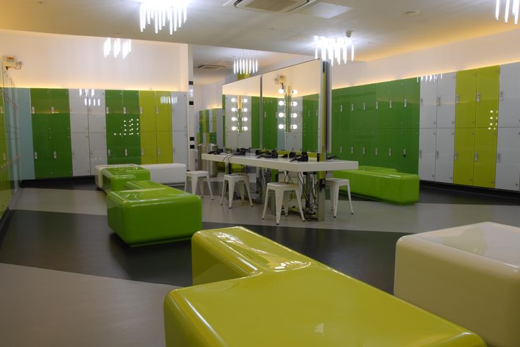 Light + Design - Gymbox Westfield. Changing Rooms