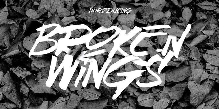 Broken Wings Brush Font