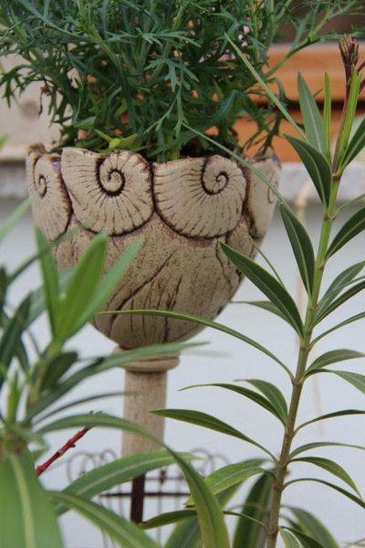 Gartenstecker Pokal von Töpfereien im Landgarten auf DaWanda.com