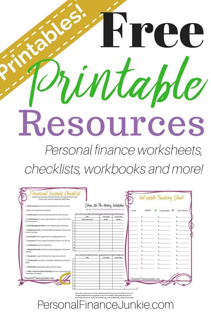 get access to my free library of personal finance printables