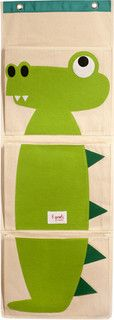 Organic Wall Pocket Organizer Crocodile Green - eclectic - toy storage - by Layla Grayce