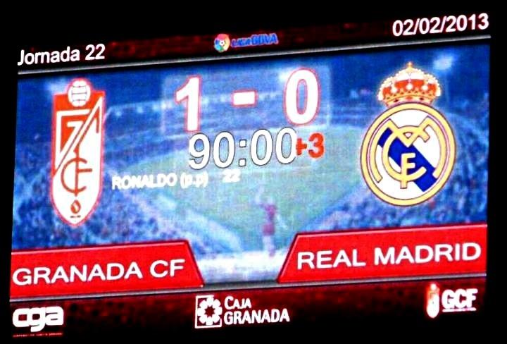 El Granada CF vence al Real Madrid 1-0