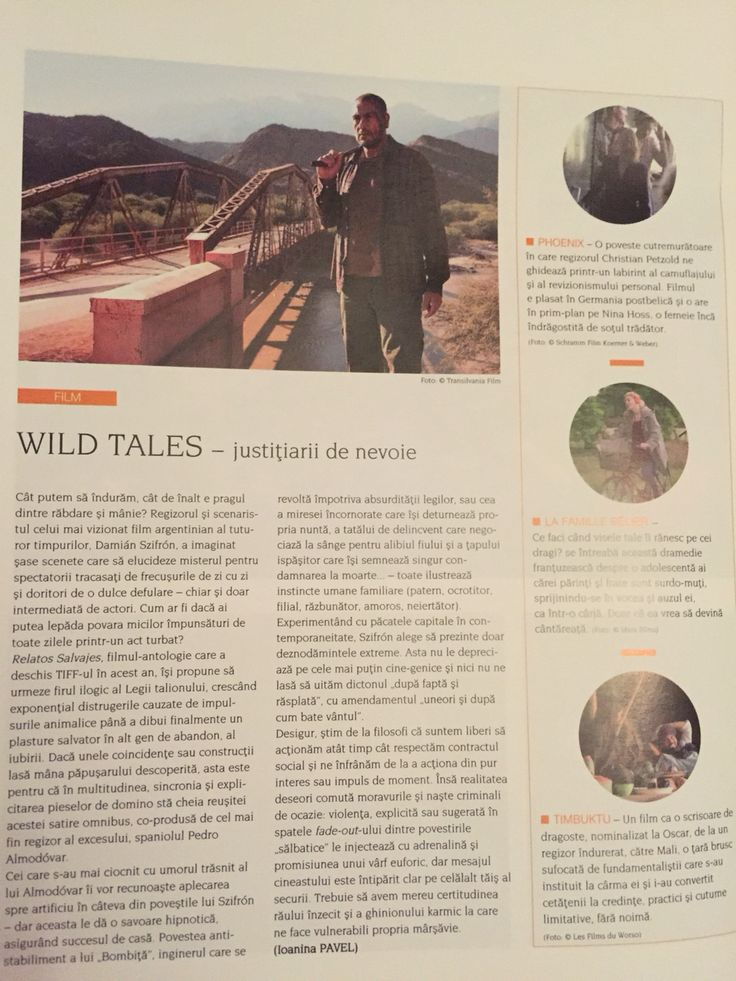 Wild Tales by Damián Szifrón - #film review in Igloo mag (Ro), June issue