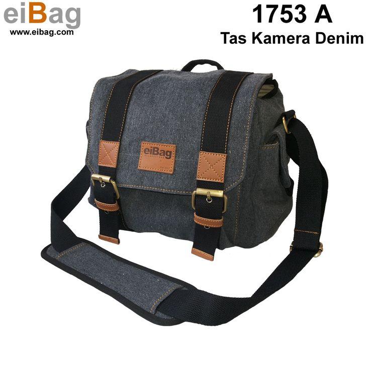Tas kamera denim harga murah produk Bandung kapasitas : 1 kamera lensa terpasang, 1 lensa tambahan, flash, aksesoris kamera, tablet 10 inch, free cover bag