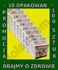 Plastry oczyszczające organizm Kiyome KINOKI - ZESTAW 10 - OPAKOWAŃ  - 100 sztuk - kuracja 25 dni dla 2 osób w promocyjnej cenie 128,99 zł