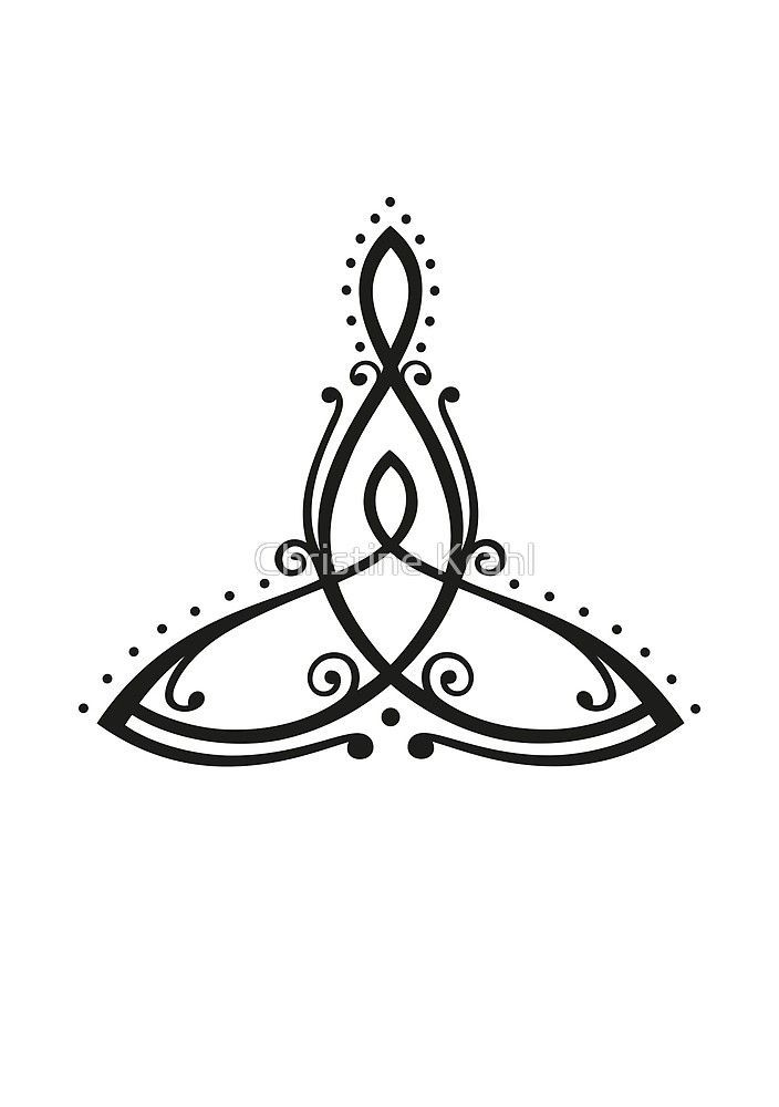 "Celtic symbol Mother with child. ""By Christine Krahl 