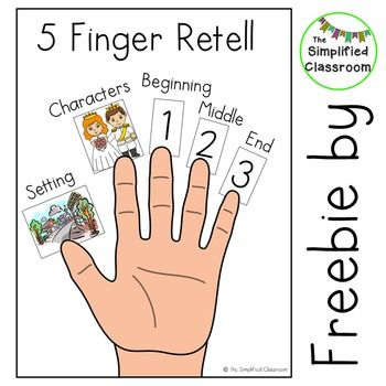 FREE 5 Finger Retell Poster by The Simplified Classroom                                                                                                                                                                                 More