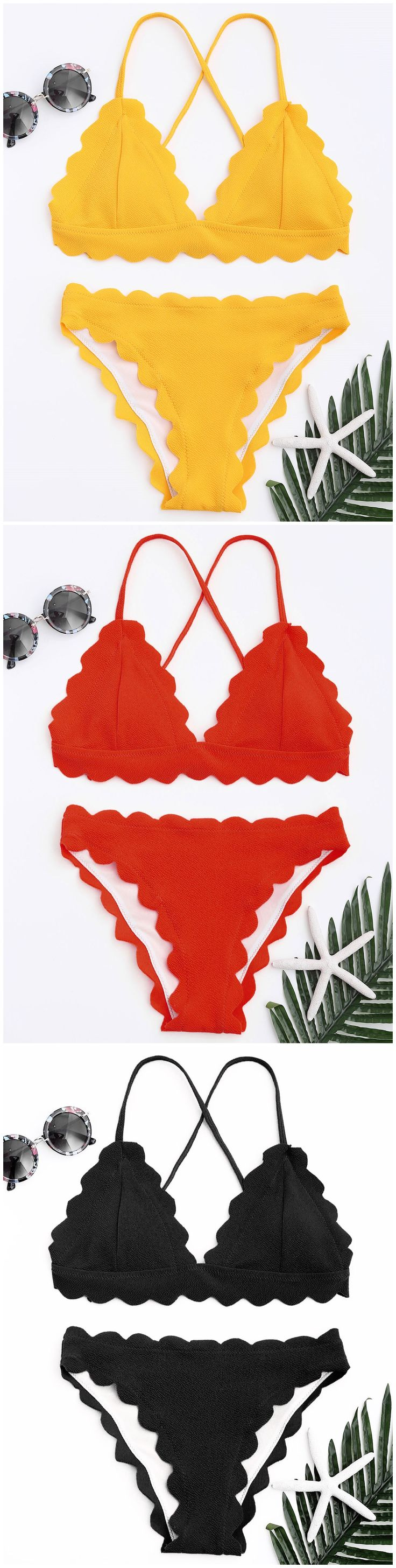 Up to 80% OFF! Scalloped Bikini Set. #Zaful #Swimwear #Bikinis zaful,zaful outfits,zaful dresses,spring outfits,summer dresses,Valentine's Day,valentines day ideas,cute,casual,fashion,style,bathing suit,swimsuits,one pieces,swimwear,bikini set,bikini,one piece swimwear,beach outfit,swimwear cover ups,high waisted swimsuit,tankini,high cut one piece swimsuit,high waisted swimsuit,swimwear modest,swimsuit modest,cover ups,swimsuit cover up @zafulbikini Extra 10% OFF Code:zafulbikini