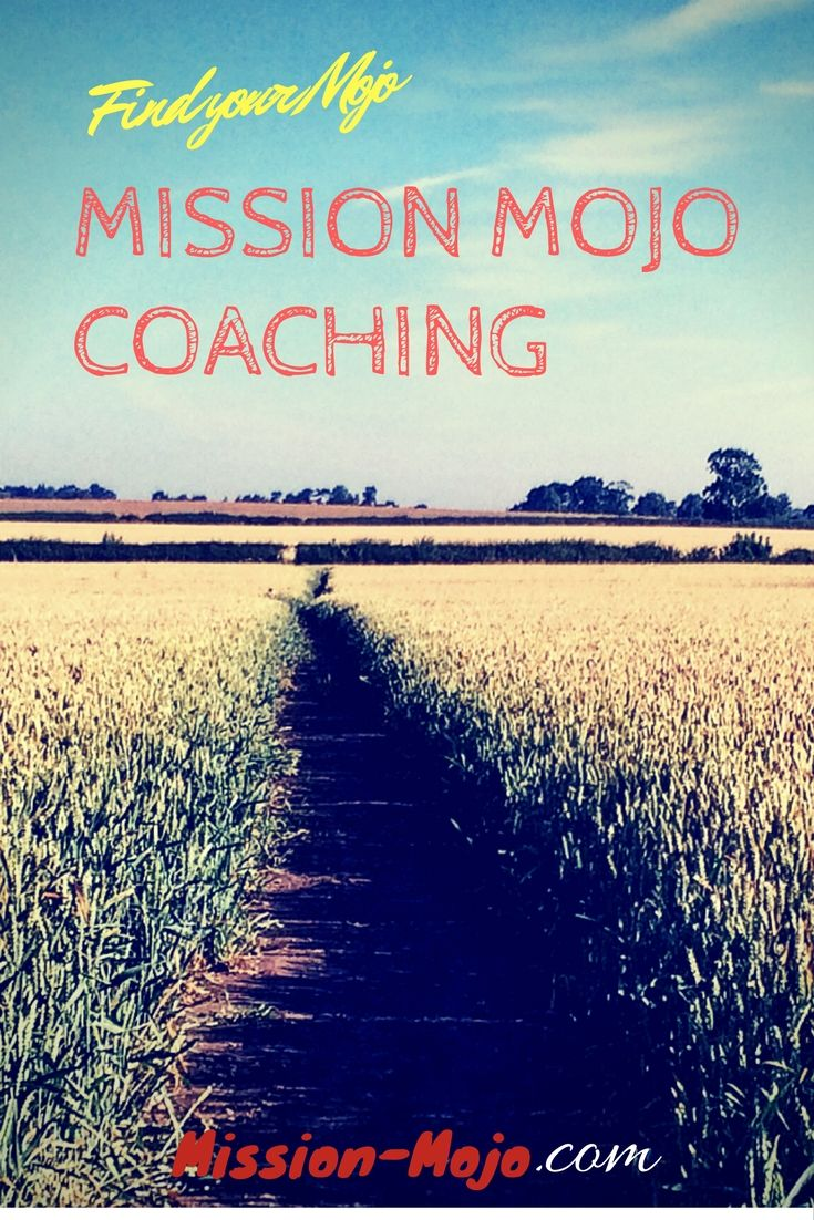 Get your mojo working for you with Mission Mojo Private Coaching :)