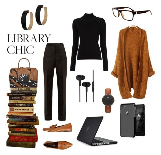 """Contest: library chic"" by dtlpinn on Polyvore featuring Valentino, Maison Margiela, Speck, Leonardo Principi, Misha Nonoo, CYLO, Daniel Wellington and Zimmermann"