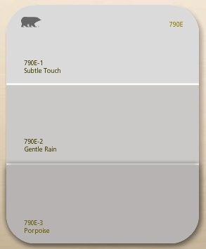 Gentle Rain is the actual color I ended up using for my walls.  It turned out great!!  So cool, so calm.