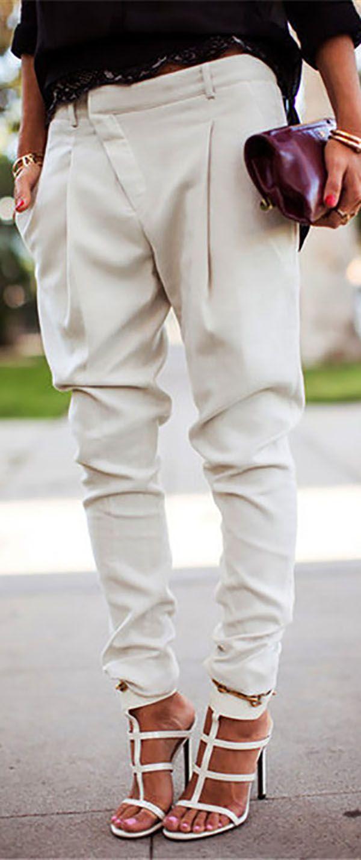 Hot Sale!Harlan Fashion Casual Overall Bottoms Skinny Stylish Pants