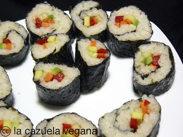 Vegetable Sushi | Recipes | Pinterest
