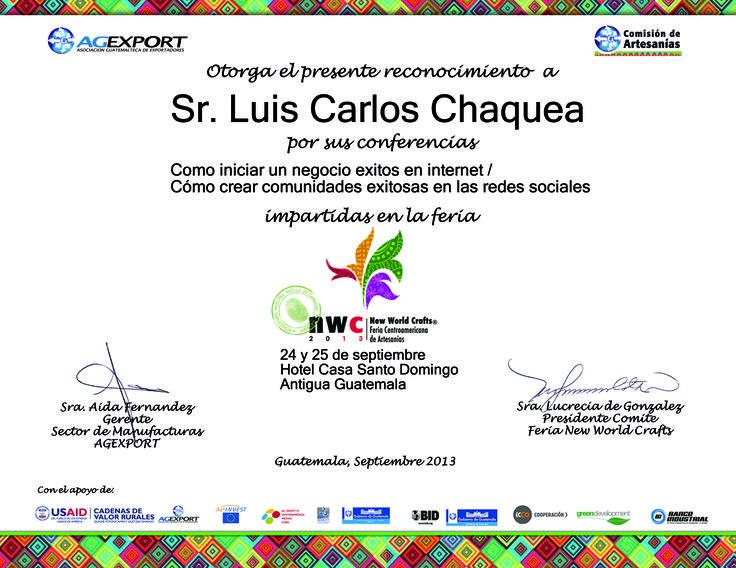 Gracias a la Asociación Guatemalteca de Exportadores y a la Comisión de Artesanias de Agexport Guatemala por lo invitación a compartir sobre Negocios en Internet