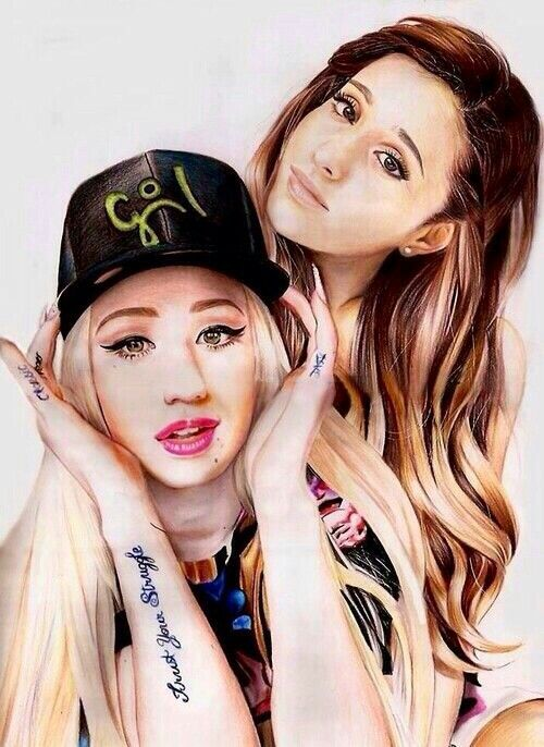 Amaizing art of Iggy Azalea and Ariana Grande