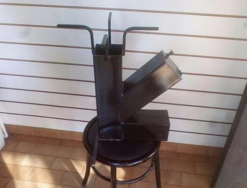Cocina Cohete Stove Rocket A Leña P/ Disco De Arado/paellera