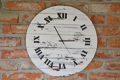 PalletWood / Drevené hodiny Shabby Chic