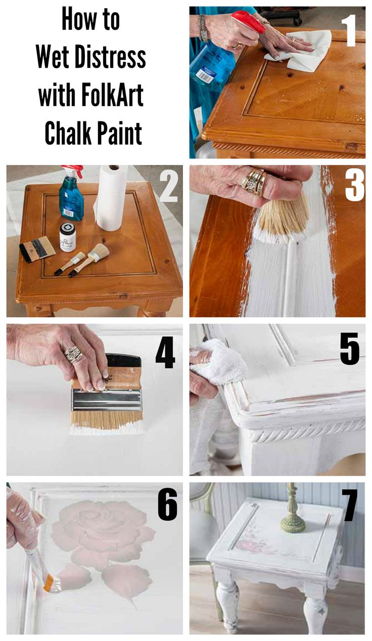 Folk art acrylic paint color chart - Learn From Donna Dewberry How To Diy Wet Distress An Old Table With Folkart Chalk Paint For An Awesome Vintage Look
