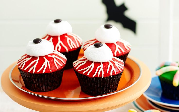 Little cakes of horror recipe - By Woman's Day, These delicious little cakes of horror scream Halloween! Impress your party guests with these sweet temptations on the scariest night of the year!