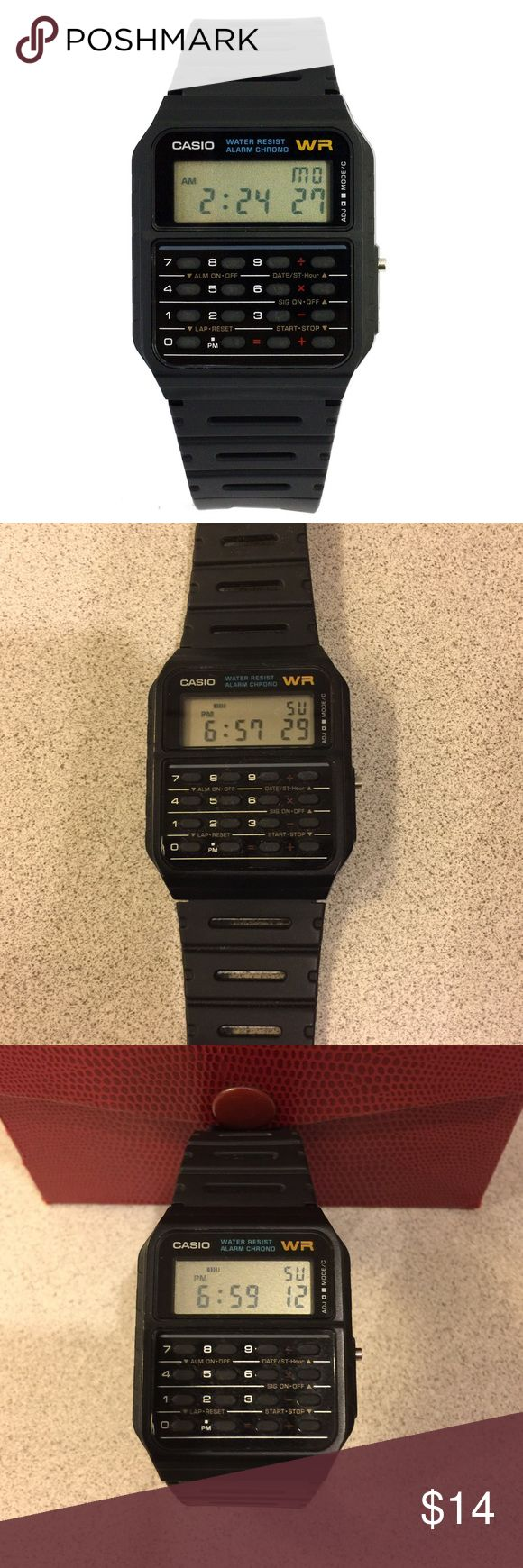 Casio Databank Calculator Watch Only worn a few times and remains in great condition. Bring the techy calculator watch back with this Casio Databank Calculator Watch. The manual is easily obtained online. Have fun with this piece. Casio Accessories Watches