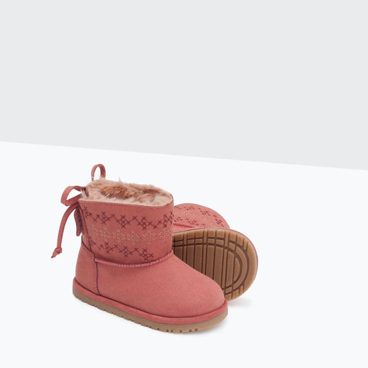 EMBROIDERED DETAIL BOOTS-Shoes-Baby girl   3 months - 3 years-KIDS   ZARA United States
