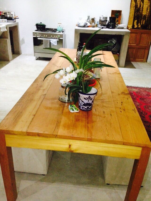 #NorthcliffAntiques This client was given this table as a gift and what makes it different is the beautiful contrast between red origon, yellow origon and pine. Broad planks - like the ones that the top is made from - are also harder to come by and adds to the overall look. Bespoke tables made from reclaimed wood to your specification in a variety of finishes. #Johannesburg