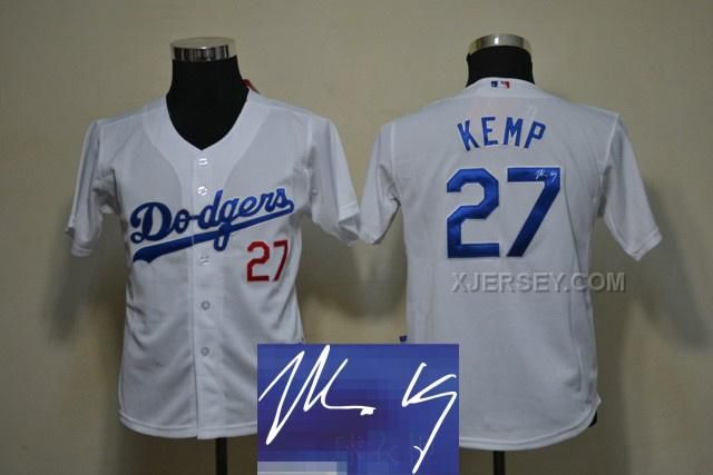 http://www.xjersey.com/dodgers-27-kemp-white-signature-edition-youth-jerseys.html DODGERS 27 KEMP WHITE SIGNATURE EDITION YOUTH JERSEYS Only $35.00 , Free Shipping!