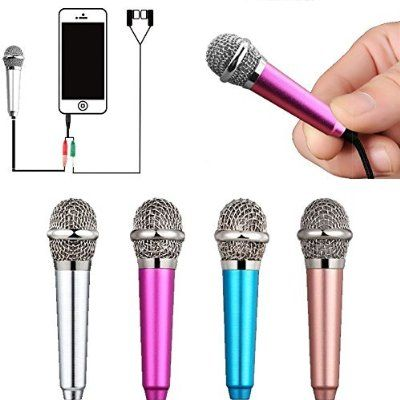 UniwitMini Portable Vocal/Instrument Microphone For Mobile phone laptop Notebook Apple iPhone Sumsung Android With Holder Clip - Silver