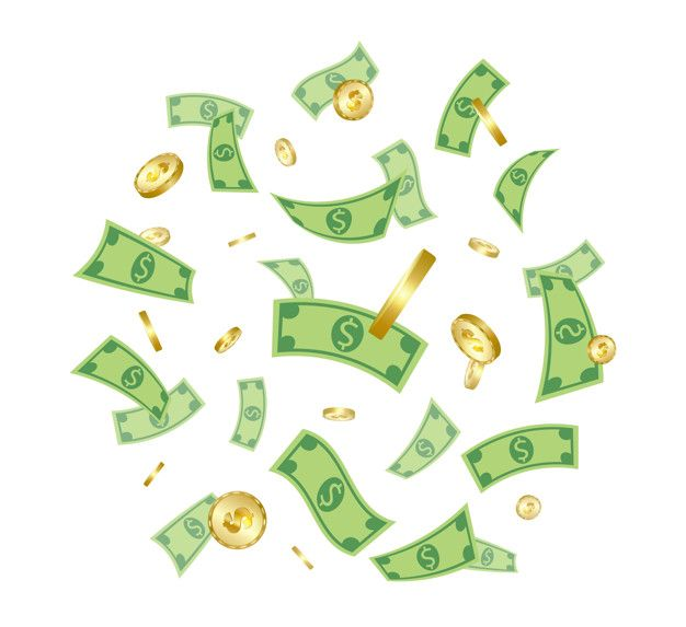 Money Rain Hand Art Drawing Money Design Photography Studio Background