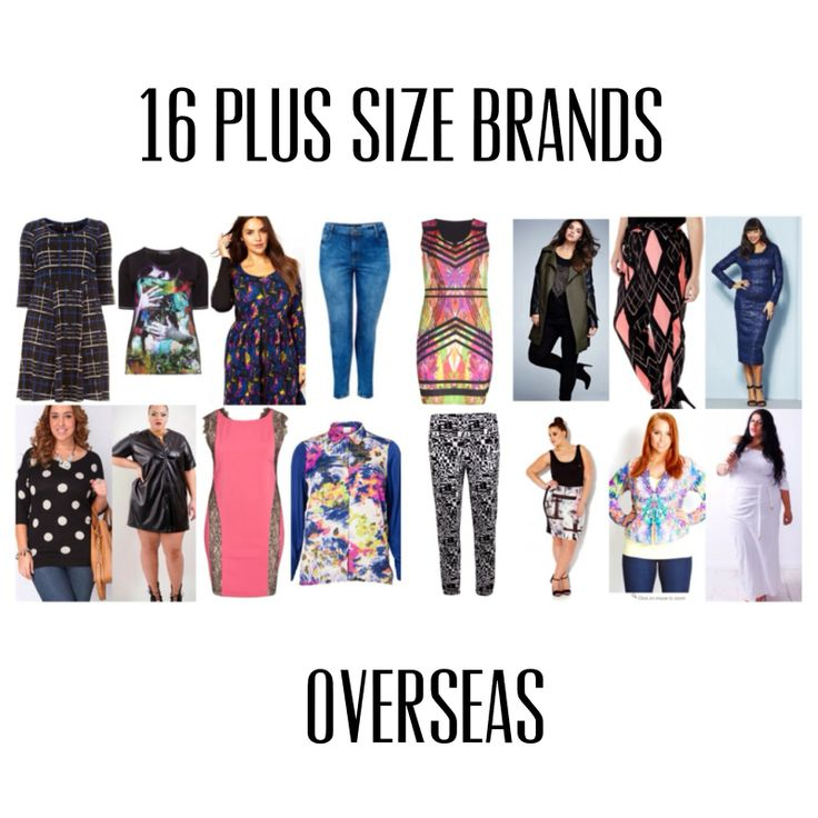 16 Plus Size Brands Overseas