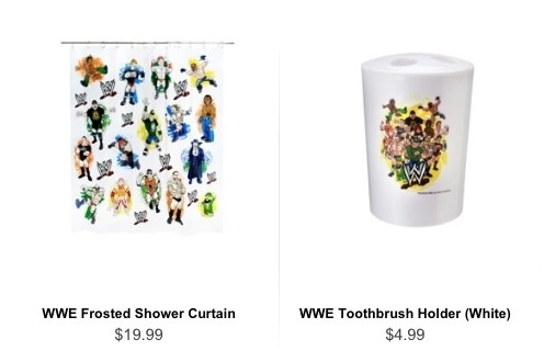 Wwe now goes into bathroom accessories random crap wwe for Gen y bathroom accessories