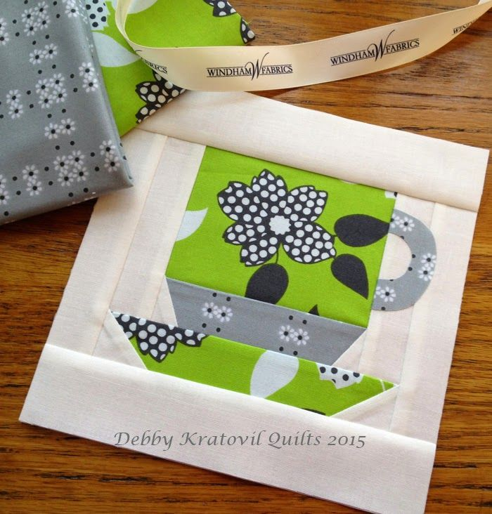 Free Pattern For The Paper Pieced Coffee Cup 7 Quot Size