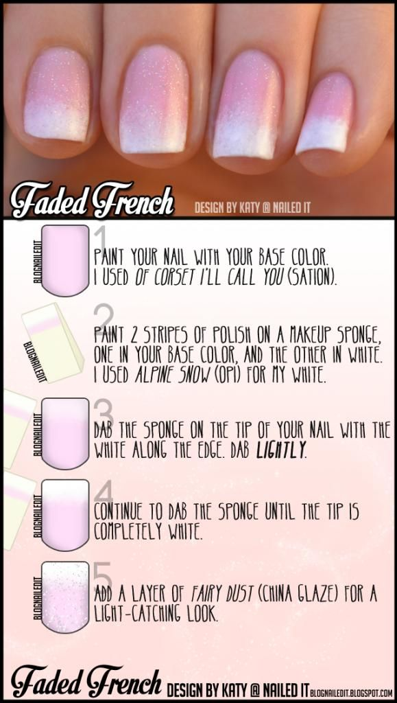 DIY Faded French Manicure DIY Nails Art