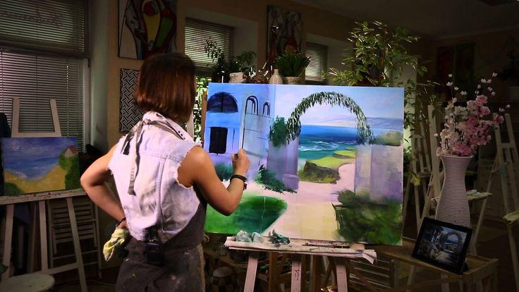 МАСТЕР - КЛАСС ПО ЖИВОПИСИ. Уроки Живописи акрилом от Лилии Степановой. Как нарисовать пейзаж на холсте. В данном выпуске пишем пейзаж художественным акрилом...