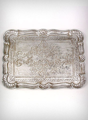 Antiqued Silver Victorian Serving Tray - want this for on top of my dresser