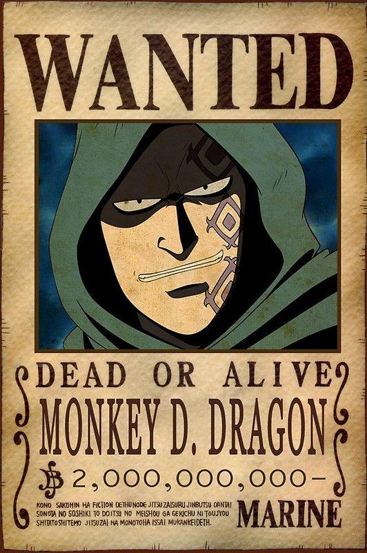 #MonkeyDDragon #Dragon #RevolutionaryArmy #onepiece #pirate #pirata #bounty #wanted #poster #anime #manga #oda