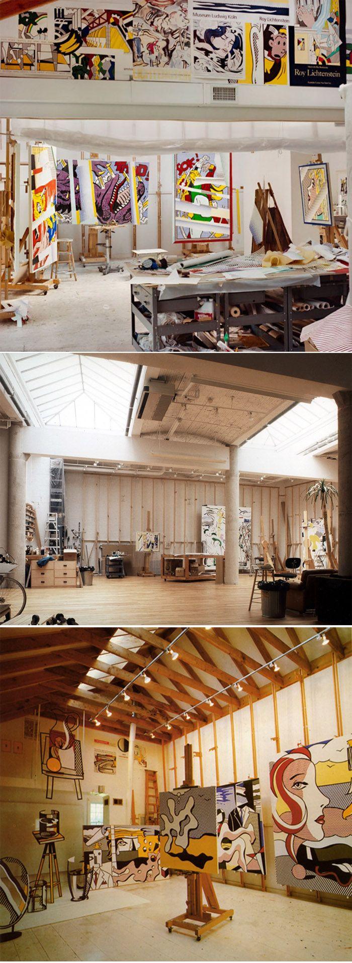 Roy Lichtenstein's Studio
