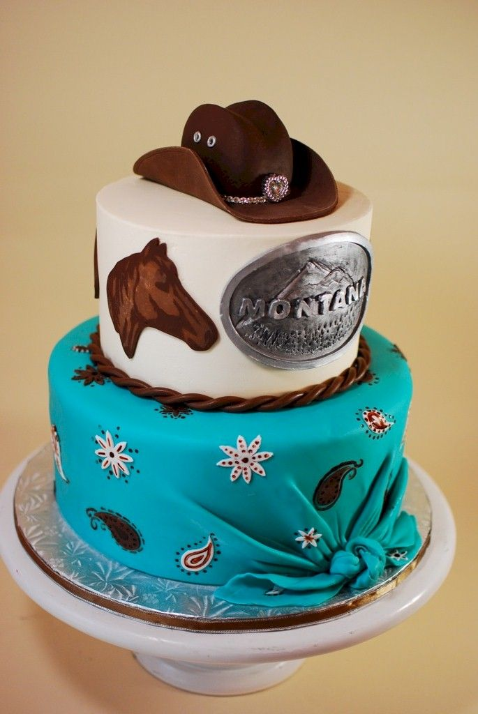 Cup a Dee Cakes Blog: Montana Cowgirl Cake + Mini Tutorial