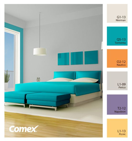 10 best images about recamaras en colores on pinterest for Colores para casa interior