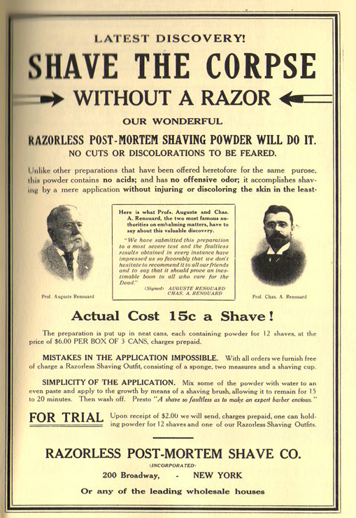 wonders of technology: Shave the Corpse without a Razor!