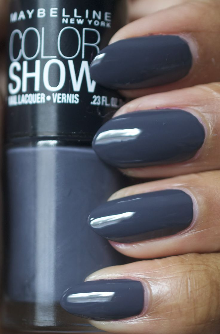 Amor de Lacquer: Maybelline Color Show Impeccable Greys ~ smokey grey with hint of navy blue